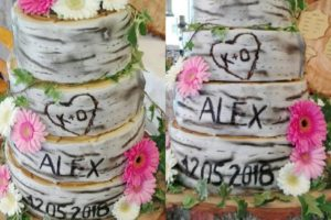 Birch Tree Wedding Cake Hochzeitstorte