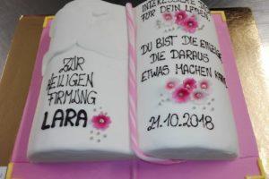 Firmung Torte Buch