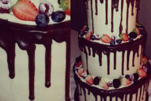 Hochzeitstorte Drip Cake 3stöckig