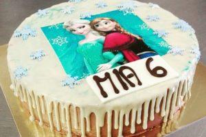 Kindergeburtstag Frozen Drip Cake